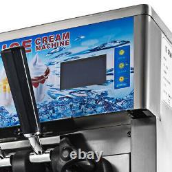 1200W 3 Flavor Soft Ice Cream Machine Commercial Frozen Yogurt Cone Maker CE