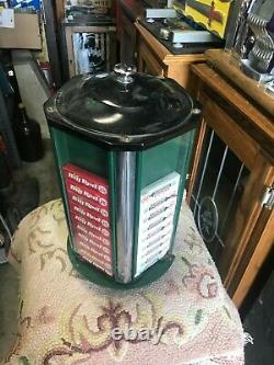 1920s Wrigleys Package Gum Counter Top 5 side Vending Machine Dispenser Spins