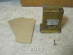 1930's Schermack Cast Iron Stamp Machine Small Counter Top Model Double side