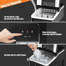 1.6L Ice Maker Machine Automatic Electric Ice Cube Maker Countertop 12KG/24H
