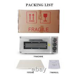 2000W Commercial Single Deck Countertop Pizza Oven Cake Bake Machine CE