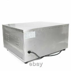 220V Commercial Single Electric Pizza Oven Pizza Bread Making Machines 2 KW NEW