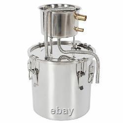 22L 2 Pots Moonshine Still Water Alcohol Distiller Home Brew Wine Maker Machine