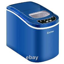 2.2L Automatic Electric Ice Cube Maker Machine Counter Top Cocktails Drink Blue
