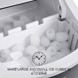 2.2L Black Automatic Electric Ice Cube Maker Machine Counter Top Drink 12KG/24H