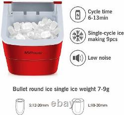 2.2L Ice Maker Machine, Compact Portable Countertop Ice Cube Maker Andrew James