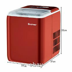 2.6L Portable Ice Machine Electric Countertop Ice Cube Maker 20KG Self-Cleaning