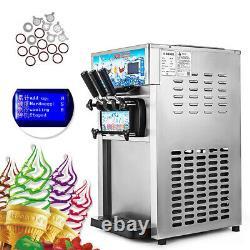 3 Flavor Frozen Yogurt Cone Maker CE Commercial Soft Ice Cream Machine HQ