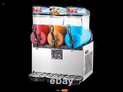 3 x 12 l Slushy Machine Stainless steel new never been used