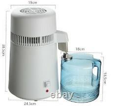 4L Electric Water Distiller Countertop Water Purifier Machine Distilling Equipme