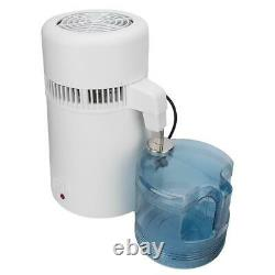 4L Home Countertop Stainless Steel Pure Water Distiller Purifier Machine 750W