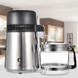 4L Pure Purifier Filter Water Distiller 750W Home Countertop Distilling Machine