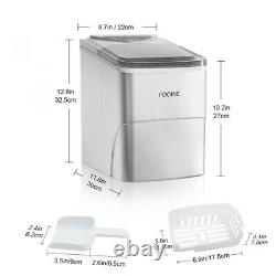 Automatic Electric Ice Machine Ice Cube Maker Counter Top for Home Bar Kitchen