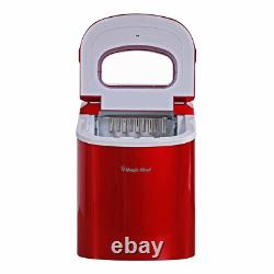 Best Portable Red Ice Maker Nugget Pellet Countertop Machine New