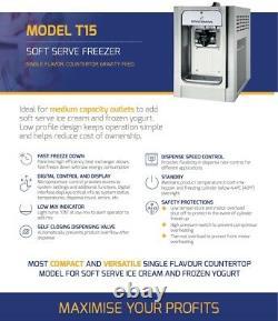 Blue Ice T15 Soft Serve Ice Cream Machine, Mr Whippy/ Carpigiani style machine