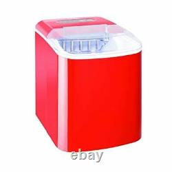 Caterlite Countertop Manual Fill Ice Machine in Red Removable & Washable