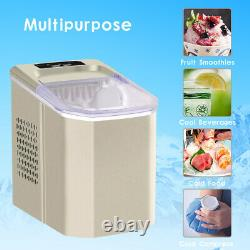 Champagne Ice Machine Portable Counter Top Home Ice Cube Maker for Home Kitchen