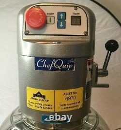ChefQuip 70QT 7.5 Litre Planetary Mixer Dough Machine SP800 Variable Speed 0.25h
