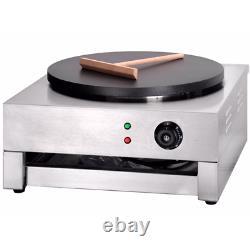 Commercial Crepe Machine Pancake Maker Hotplate Electric Fryer 400mm + Spreader