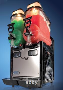 Commercial Double Bowl Slush Machine Italian Quality