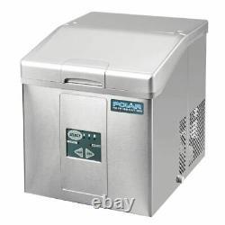 Commercial Polar Countertop Ice Machine 17kg Output Sliding 17kg/24hr