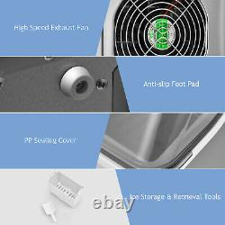 Countertop Electric Ice Making Machine with Top Inlet Hole Auto Self-Cleaning Home