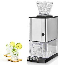 Countertop Electric Stainless Steel Ice Crusher Crushed Ice Maker Shaver Machine