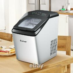 Countertop Ice Maker 15KG/24H Ice Cube Making Machine With Self-cleaning Function