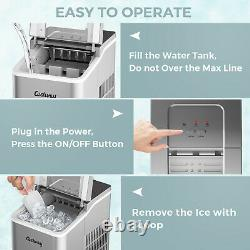 Countertop Ice Maker Electric Ice Cube Making Machine With Self-cleaning Function