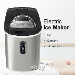 Countertop Ice Maker Electric Ice Cube Making Machine in Stainless Steel 26lb UK