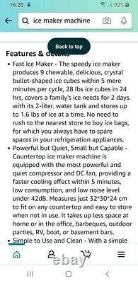 Countertop ice cube maker machine
