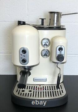 Cream KitchenAid Counter Top Artisan Coffee Machine & Accessories VGC