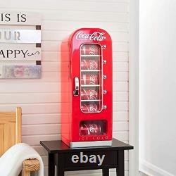 EXP DEL Coca-Cola Retro Vending Machine Style 10 Can Mini Fridge Cooler