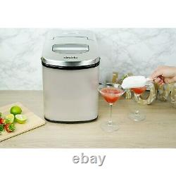 ElectriQ Counter Top Ice Maker Machine in Stainless Steel