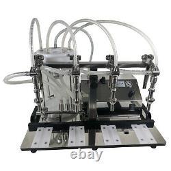 Enolmaster Liquid Filling Machine Counter Top Multi Head Vacuum Bottle Filler