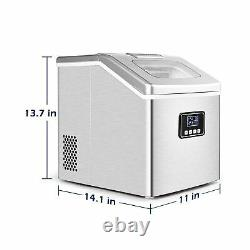 Euhomy Ice Maker Machine Countertop, 40Lbs/24H Auto Self-Cleaning, 24 pcs Ice