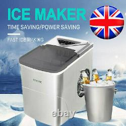 FOOING Ice Maker Machine Compact Portable Countertop Ice Cube Maker