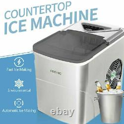 FOOING Ice Maker Machine Compact Portable Countertop Ice Cube Maker UK SELLER