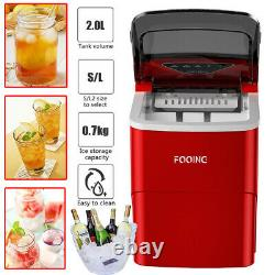 Fooing Portable Ice Maker Machine Compact Countertop Ice Cube Maker 2L