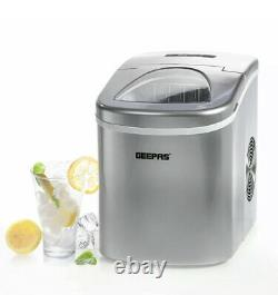 Geepas Professional Electric Ice Cube Maker Machine Counter Top Fast Automatic