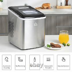 HOMCOM Ice Maker Machine Portable Counter Top Ice Cube Maker for Home