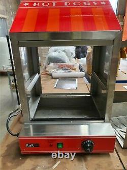 Hot Dog Cart Cooker Electric Warmer Machine Hotdog Commercial Display A5432