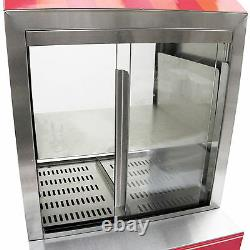 Hot Dog Cart Cooker Electric Warmer Machine Hotdog Commercial Display Free Tools