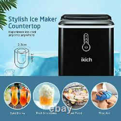 IKICH Countertop Ice Maker Electric Ice Cube Making Machine LED Indicator Lights