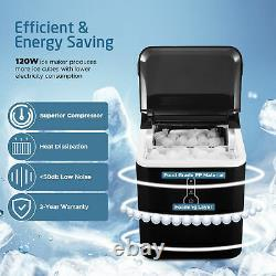 IKICH Countertop Ice Maker Electric Ice Cube Making Machine with LED Indicator