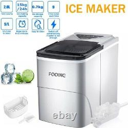 Ice Cube Maker Machine Countertop 2L Ice Making with Self Clean Function LED UK