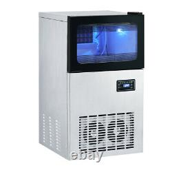 Ice Maker Commercial Stainless Steel Machine Counter Top Cube Clean Timer Party