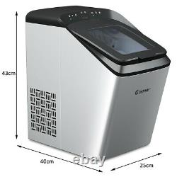 Ice Maker Countertop Automatic Self-Cleaning Ice Cube Making Machine Ice Scoop