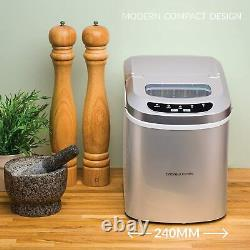 Ice Maker Machine, Compact Portable Countertop Ice Cube Maker 2.4L Andrew James