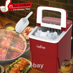 Ice Maker Machine Electric Automatic Countertop Ice Cube Maker Machine 2L Red UK